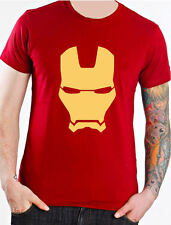 IRON MAN MÁSCARA MARVEL COMICS SUPERHÉROE CAMISETA DE NIÑOS