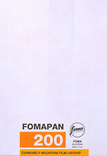 PLAN-FILM 5x7 NOIR & BLANC FOMAPAN 200 - 50 PLAN-FILMS - FOMA SHEET FILM 5x7