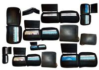 Lot of 12 New Zip around men's Leather wallet Black wallet 9 credit card, ID NWT