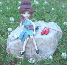 Doll Shoes, 19mm RED Custom Flats fit Elfdoll Lyn, Tutti