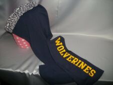 Victorias Secret Pink Fold Over U Of M Michigan Wolverines Yoga Pants NWT XS
