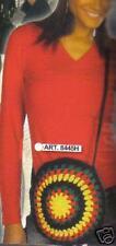 Sacoche REGGAE RASTA en laine multicolore SAC B MARLEY