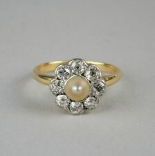 Pearl Yellow Gold 18Carat Ring Vintage Fine Jewellery