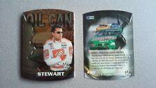 2000 NASCAR Press Pass Oil Cans Complete 9-Card Diecut Insert Set ~ Tony Stewart