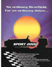 WESTFIELD SPORTSCARS SPORT 2000 S MODEL KIT CAR SALES BROCHURE  FOR THE 2000's