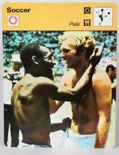 "Pele 1977 Soccer Sportscaster 6.25"" Card 10-12 Bobby Moore Game Shirt Exchange"