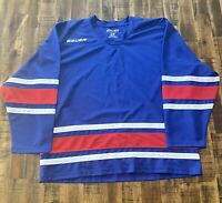 Bauer Hockey Jersey Blue Red Size Small Practice Workout Blank