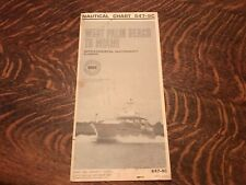 1970 Nautical Chart, West Palm Beach To Miami, Intracoastal Waterway