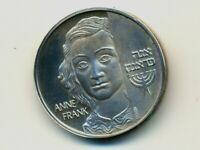 "1980 /""Shema-Yesrael/""-/""Hear O Israel/"" State Medal 27mm 12g Silver Case COA"