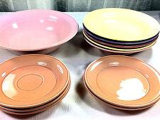 11 PC Nancy Calhoun Solid Colors Pattern Fiesta Color Dinnerware