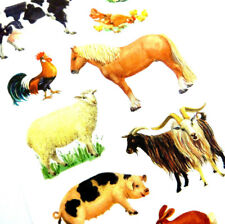 Farm Yard Animal Stickers childrens card making kids decoration labels 53720