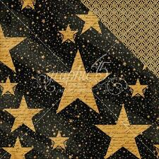 """Graphic 45 Vintage Hollywood - STAR STUDDED - 12x12"""" Scrapbooking Paper"""