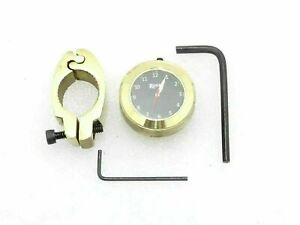 Fit For Royal Enfield Black Dial Brass Handle Watch With Clamp