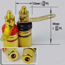 4 Pack Speaker Amplifier Terminal Binding Post Banana Plug Socket (Lenth 36mm)