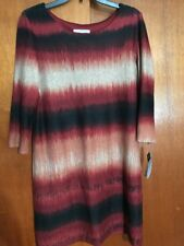 NWT Studio One New York Knit 3/4 Washable Dress Brick Size 14P JCP9