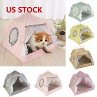 Portable Pet Dog Cat Folding House Tent Puppy Waterproof Indoor Outdoor Teepee