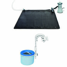 Solar Mat Water Heater - Black Bundled w/ Wall-Mounted Automatic Skimmer