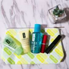 NEW Macys Clinique Bonus 6 PCS Travel Size Makeup Deluxe Sample Set Gift Bag