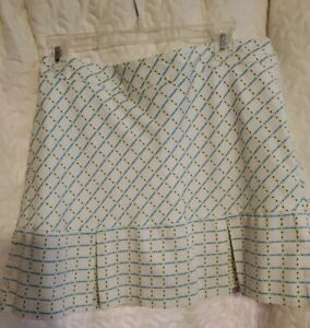 Lady Hagen Golf Skort Women's size 8 Multicolor Pocket Zip on back Casual Skirt