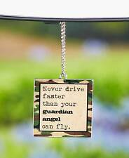 NEW Metal CAR CHARM with DRIVE SAFE Message Car Accessory Great Gift New Driver