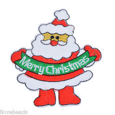 5PCs Xmas Santa Claus Patch Iron On Sewing Christmas Decoration 8.7x7.8cm