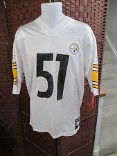 NWT James Farrior Pittsburgh Steelers Football Jersey Mens Medium White Reebok