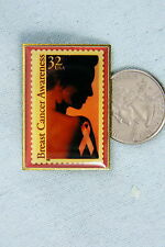 HAT PIN BREAST CANCER AWARENESS STAMP