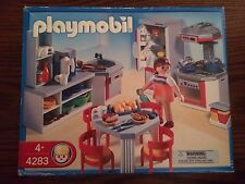 Playmobil 4283 Kitchen w/ Dinette Set for Modern House New in Box Box shows wear