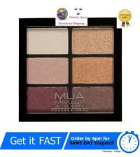 MUA Professional 6 Shade Eye Shadow Palette Rusted Wonders Bronzed Golds