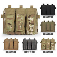 Tactical Triple Magazine & Pistol Pouch MOLLE Mag Carrier Mag Army Military