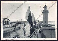 LUCCA VIAREGGIO 115 FARO - BARCHE A VELA Cartolina viaggiata 1933