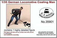 LZ MODELS GERMAN LOCOMOTIVE COALING MAN  Scala 1/35 Cod.35901