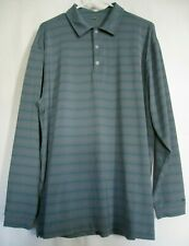 NIKE dry fit Mens Golf Shirt Polo Strips Men's Size Large