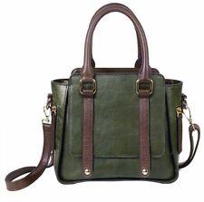 Women Genuine Real Cow Leather Messenger Shoulder Bag Handbag Travel Bag Green
