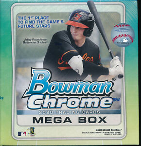 (1) 2020 BOWMAN CHROME BASEBALL MEGA BOX EXCLUSIVE BRAND NEW SEALED QUANTITY