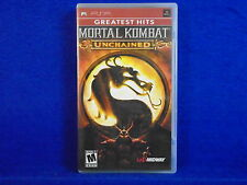 psp MORTAL KOMBAT UNCHAINED +z Arcade Action Game Playstation NTSC
