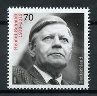 Germany 2018 MNH Helmut Schmidt Chancellor 1v Set Politicians People Stamps