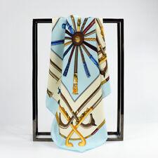 100% Seda Bufanda, 60cmx60cm. diseño llamativo Ecuestre. Envoltura de regalo disponibles