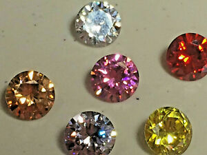 Cubic Zirconia AAAAA Loose Stones Wholesale All Colors, Sizes Round Best Quality