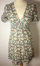 KATE MOSS FOR TOPSHOP LADIES FLORAL PATTERN SUMMER DRESS-UK 6/8-USED-VERY CHIC