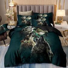 Moon Wolf Duvet Cover Set for Comforter King Size Bedding Set Pillowshams Us