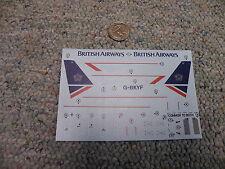 Airfix 1/144 decals  Boeing 737-200 British Airways M99