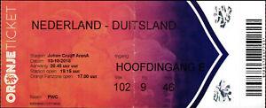 Ticket 13.10.2018 Niederlande - Deutschland in Amsterdam, UEFA Nations League A