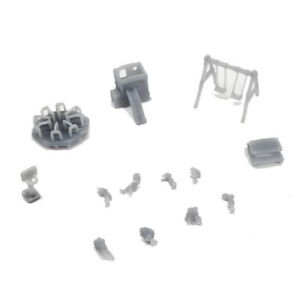 Outland Models Railway Layout Children Playground Set with People 1:160 N Gauge