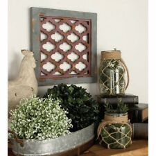 Distressed Rustic Shabby Farmhouse Lattice Pattern Set/3 Wood Wall Panels Decor