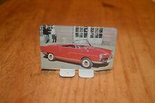 Petite plaque métallique publicitaire Coop des années 1970 NSU Prinz cabriolet