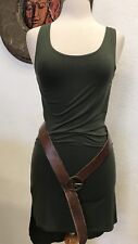 Missmo PlusSize Leather Belt 2XL Peace Love 70s Inspired Vintage,Western,Mexican