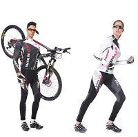 Men/Women Cycling Long Sleeve Jersey Pant Sportswear Set Legging Racing Clothes