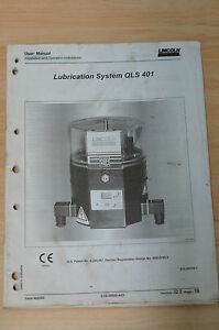 Lincoln User Manual Lubrication System QLS 401