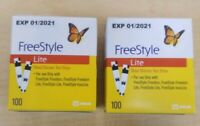 FREESTYLE LITE TEST STRIPS 200 CT LONG EXP 01/2021 NEW SEALED FREE SHIP